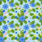 Modèle sans couture été bleuet — Vecteur