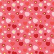 Seamless pattern with hearts and flowers — Stock Vector #11111891