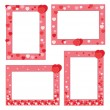 Red frame with hearts — Stock Vector