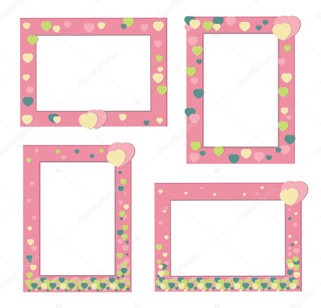 Pink frame with hearts , eps 8  Stock Vector #11147322