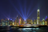 Hong Kong Harbour Lights — Stock Photo
