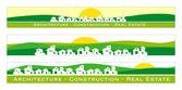 Banner web, concetto di bene immobile — Vettoriale Stock