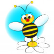 Vettoriale Stock : Bee and daisy - Kid Illustration