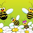 Vettoriale Stock : Bees Family - Kids Illustration