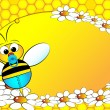 Vettoriale Stock : Bees Family: Baby boy - Kids Illustration