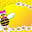 Vettoriale Stock : Bees Family: Baby girl - Kids Illustration