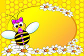 Bees Family: Baby girl - Kids Illustration — Vettoriale Stock