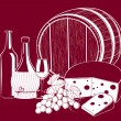 Royalty-Free Stock Vector Image: Vector Wine and cheese