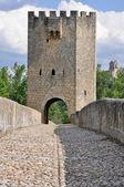 Frias bridge, Burgos (Spain) — Stock Photo