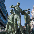 Los Encierros Statue, Pamplona  (Spain) — Stock Photo
