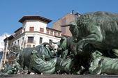Los Encierros Statue, Pamplona (Spain) — Stock Photo