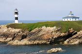 The Pancha island lighthouse, Galicia (Spain) — Stock Photo