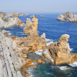Broken coast (Costa quebrada) at Liencres (Spain) — Stock Photo