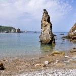 Rock at the beach of Silence, Asturias (Spain) — Stock Photo #11588743