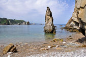 Rock at the beach of Silence, Asturias (Spain) — Foto Stock