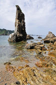 Rock på stranden av tystnad, asturias (Spanien) — Stockfoto