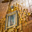 Painting of Guadalupe Virgin, Guadalupe Shrine in Mexico city — Stock Photo #12003585