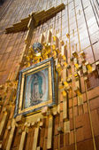Painting of Guadalupe Virgin, Guadalupe Shrine in Mexico city — Stock Photo