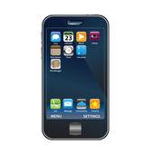 Cell Phone Dark — Stock Vector