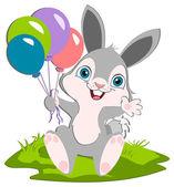 Bunny e balões — Vetor de Stock