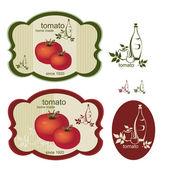 Etiqueta de la cosecha de tomate — Vector de stock