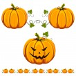Royalty-Free Stock Vector Image: Halloween pumkins