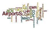 Airports Word Clouds — Stock Photo