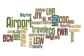 Airport Word Cloud — Stock Photo