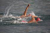 Valencia hafen schwimmen — Stockfoto