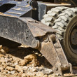 Large Construction Excavation, wheels detail — Stock Photo #11304311