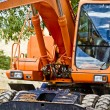 Public street maintenance works, excavator — Stock Photo
