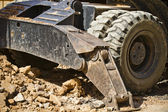 Large Construction Excavation, wheels detail — Stock Photo