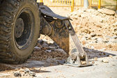 Large Construction Excavation, detail — Stock Photo