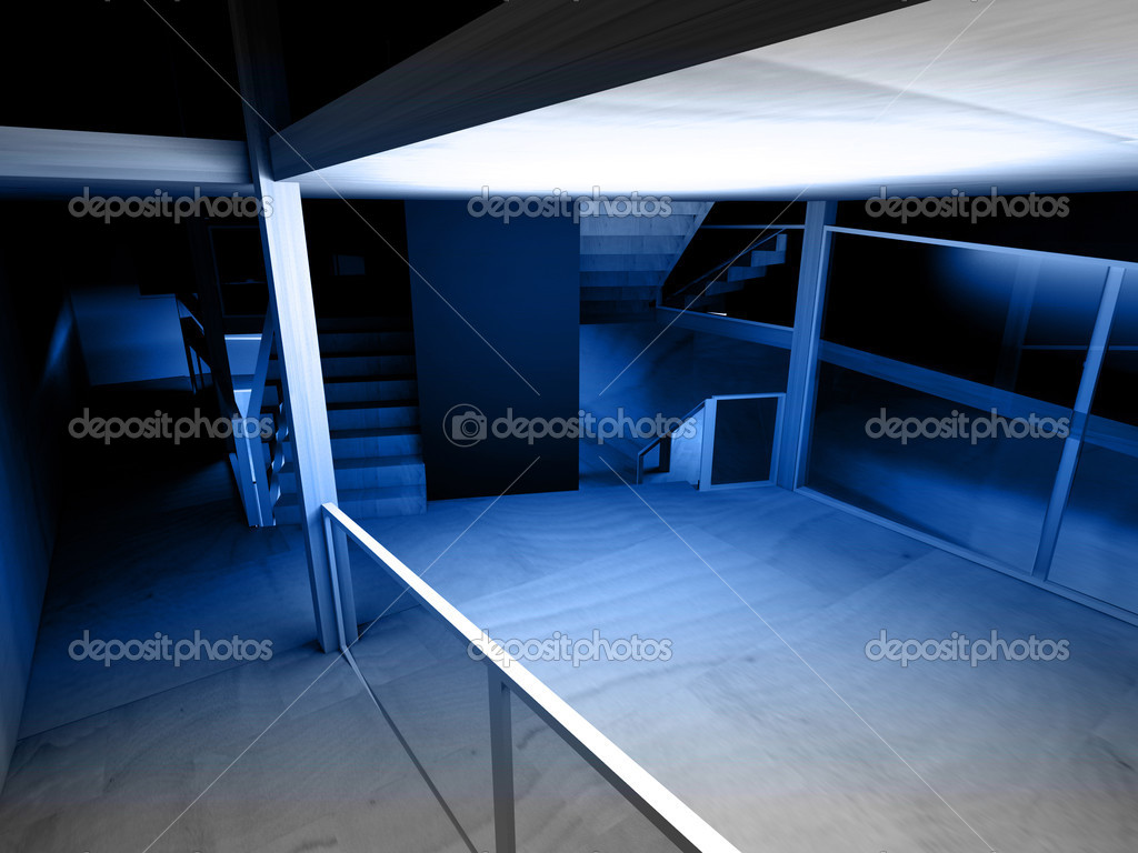 Conceptual architecture, indoor, wood room. — Stock Photo #11303692