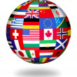 Global flags of the world — Stock Photo