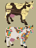 Abstract cows — Stock Vector
