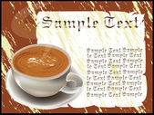 Coffee with sample text — Stock Vector