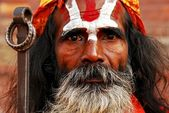 Sadhu - the holy man in Kathmandu, Nepal — Stock Photo