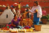 Women trading in Kathmandu, Nepal — Stock Photo