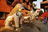 The sculptures in Durbar Square in Kathmandu, Nepal — Stock Photo