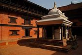 A courtyard of one the buildings in Durbar Square, Patan — Stock Photo