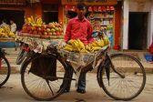 A bicycle vendor in Patan, Nepal — Stock Photo