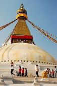 The Buddhist stupa of Boudhanath — Stock Photo
