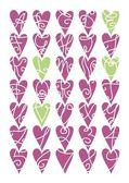 紫色心形字母表 — 图库矢量图片