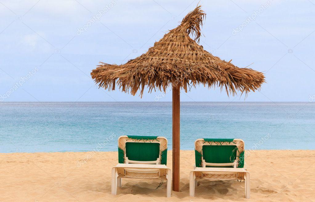 Sombrilla de playa de techo palapa sol en cabo verde - Sombrilla playa ...