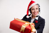 Christmas customer service — Stock Photo