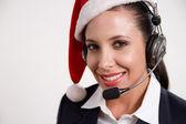 Christmas customer service — Stock Photo