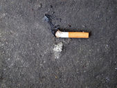 Cigarette Buts designed to put of smoking, great for use on a stop smoking program website/ Stop smoking — Stock Photo