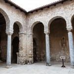 Pillars in the Euphrasian Church Atrium in Porec, Croatia — Stock Photo #10766007