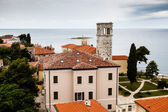 Panoramic View on Monastery Tower in Porec, Croatia — Stock Photo